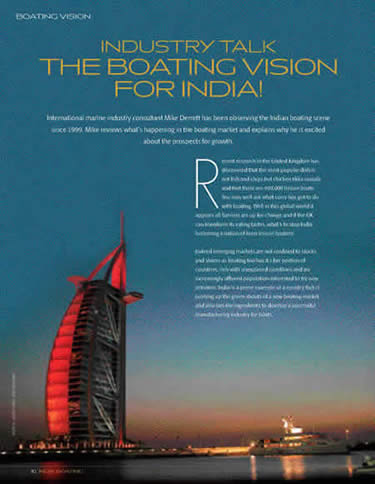 Boating vision for India
